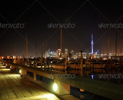 Nigth View of Auckland City